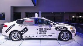 福特融合Roush表现自治汽车, NAIAS 免版税库存图片