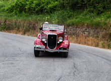福特B 8V蜘蛛Carrozzeria安布罗西尼& Botta 1933年 库存照片