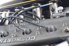 福特Cosworth八缸的格兰披治引擎 库存照片
