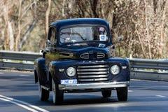 1949年福特F1公共事业卡车 库存图片