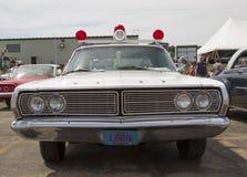1968年福特Galaxie密尔沃基警车正面图 免版税库存照片
