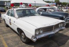 1968年福特Galaxie密尔沃基警车 库存照片