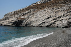 福莱甘兹罗斯岛- Cycklades -希腊 免版税库存照片