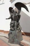 福音书作者约翰和天使 免版税图库摄影
