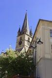 福音派大教堂锡比乌罗马尼亚图2 库存照片