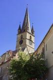 福音派大教堂锡比乌罗马尼亚图1 图库摄影