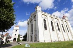 福音派教会在KÄ-dainiai 库存照片