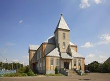 福音派礼拜堂在莫洛杰奇诺 迟来的 库存图片