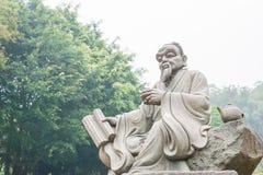 福建,中国- 2015年12月23日:在盛大看法茶的陆羽雕象 免版税库存图片