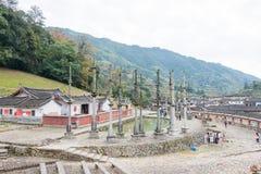 福建,中国- 2016年1月02日:Deyuan祖先寺庙(Deyuantang) 图库摄影