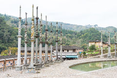 福建,中国- 2016年1月02日:Deyuan祖先寺庙(Deyuantang) 库存图片