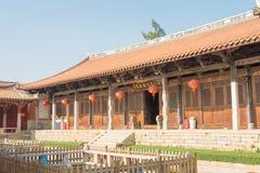 福建,中国- 2015年12月28日:Tianhou宫殿(天狮后屿锣) fa 库存图片