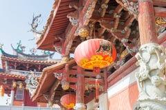 福建,中国- 2015年12月28日:Tianhou宫殿(天狮后屿锣) fa 免版税库存图片