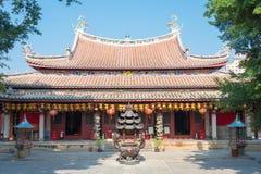 福建,中国- 2015年12月28日:Tianhou宫殿(天狮后屿锣) fa 免版税库存照片