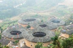 福建,中国- 2016年1月03日:Tianlo的南靖田螺坑土楼群 免版税图库摄影