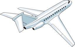 离去的飞机 库存例证