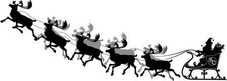 离地升空圣诞老人 库存照片