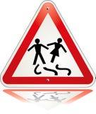 离婚三角警告 库存图片