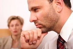 离婚婚姻问题 免版税图库摄影