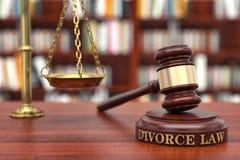 离婚法律 免版税库存照片