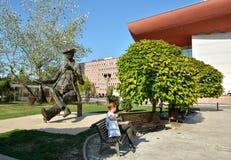 离子路卡Caragiale雕象,布加勒斯特 库存照片