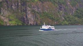 离开为远航,挪威的巡航旅游船 影视素材
