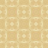 离开在沙漠棕色和奶油色口气的花无缝的样式背景 库存例证