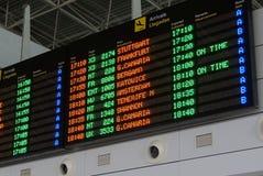 离开委员会在费埃特文图拉岛机场 库存照片