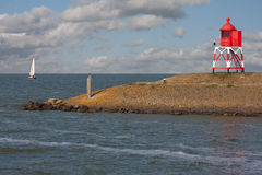 离开帆船的荷兰语港口 图库摄影