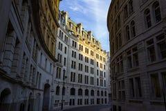 离开的伦敦街 免版税库存图片