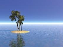 离开的例证海岛 免版税图库摄影