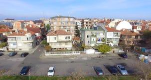 离开的停车处在秋天波摩莱,保加利亚 免版税库存照片