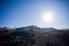 离开的冰岛内部 免版税图库摄影