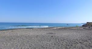 离开的国家海滩在波摩莱,保加利亚 免版税库存照片