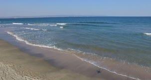 离开的国家海滩在波摩莱,保加利亚 图库摄影