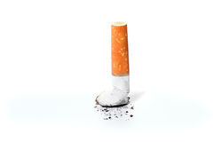 离开的抽烟 库存图片