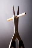 离开的抽烟 免版税图库摄影