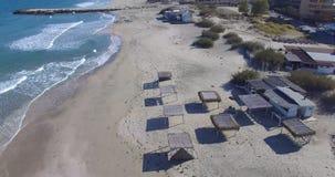 离开的海滩在波摩莱,保加利亚 库存图片