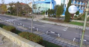 离开的秋天海边大道在保加利亚 库存照片