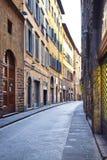离开的街道在佛罗伦萨 图库摄影