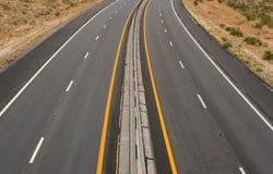 离开高速公路 免版税库存图片