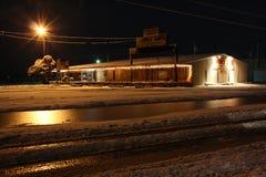 离经叛道之人的得克萨斯冬天雪风暴飞雪 免版税库存图片