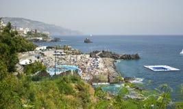 秀丽丰沙尔海岛横向马德拉岛 库存照片