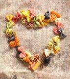 秀丽五颜六色的重点意大利面食 免版税库存照片