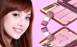 秀丽化妆用品 免版税库存图片