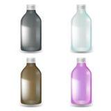 秀丽可能与罐子盒盖设置 有螺帽的瓶 传染媒介空白的套塑料封装化妆用品的,维生素,药片 皇族释放例证