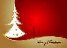 秀丽圣诞树背景 免版税库存照片