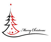 秀丽圣诞树背景 免版税库存图片