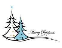 秀丽圣诞树背景 库存图片