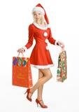 秀丽圣诞节克劳斯・圣诞老人 库存照片